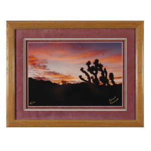 Made in Nevada Dusk at Red Rock, NV – Framed print