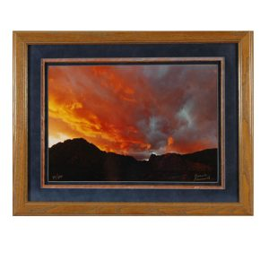 Made in Nevada Spring Mountain Sunset – Framed print
