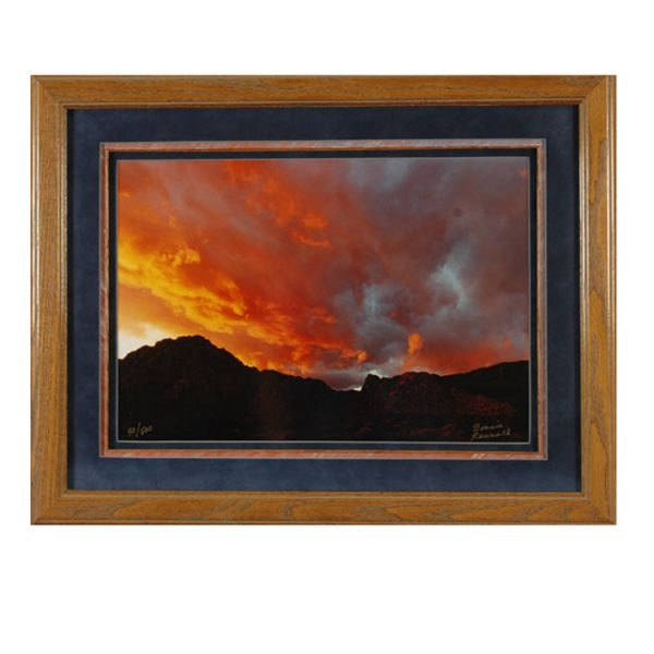 Made in Nevada Spring Mountain Sunset – Framed print