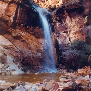 "Made in Nevada ""Waterfall at Lost Creek, Red Rock, NV"" – Color Photographic Print"