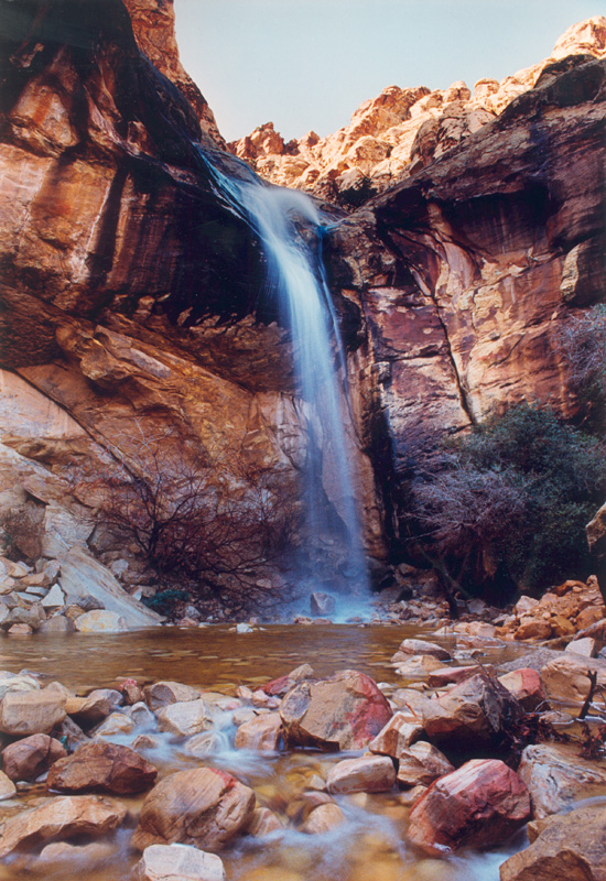 """Made in Nevada """"Waterfall at Lost Creek, Red Rock, NV"""" – Color Photographic Print"""