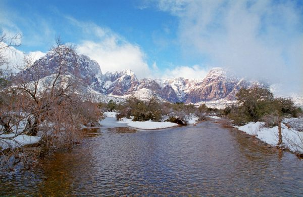 "Made in Nevada ""Winter Storm, Red Rock, NV"" – Color Photographic Print"