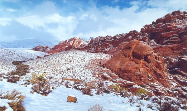 """Made in Nevada """"Winter Wonders at Red Rock, NV"""" – Color Photographic Print"""