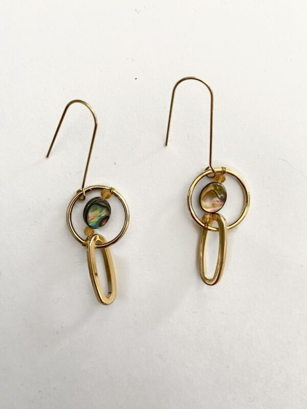 Made in Nevada Abby Abalone Earrings