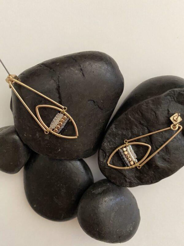 Made in Nevada Dayana Glass Bead Dangle Drop Earrings