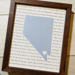 Made in Nevada Nevada Handmade wood sign