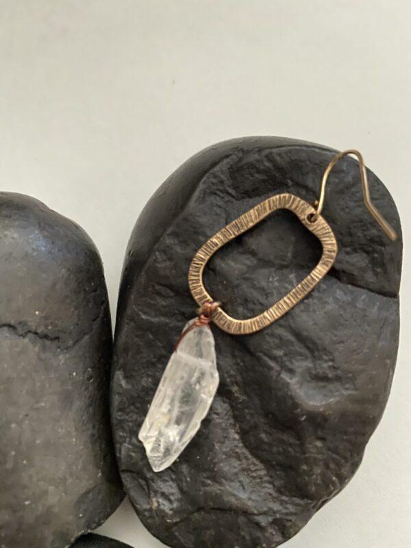 Made in Nevada Morissa Crystal Quartz Dangle Earrings