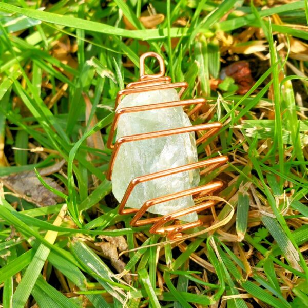 Made in Nevada Unique Gold Square Crystal Cage Pendants
