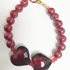 Made in Nevada Double Love Heart Bracelet