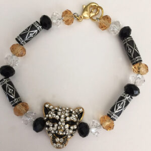 Made in Nevada Rhinestone and Crystal African Tiger Bracelet