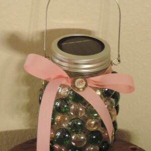 Made in Nevada Solar Lantern ~ Pink & Green
