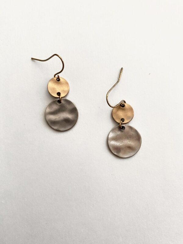 Made in Nevada Octavia Medallion Dangle Earrings