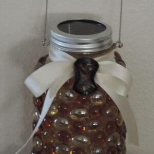 Made in Nevada Solar Lantern ~ Champagne & Amber