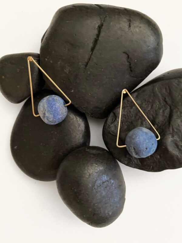Made in Nevada Estella Triangle Druzy Stone Stud Earrings