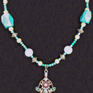 Made in Nevada Turquoise Protective Hand Necklace