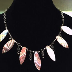 Made in Nevada Mother of Pearl Fan Necklace