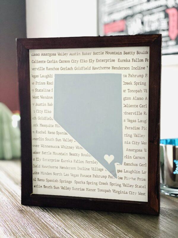 Made in Nevada Nevada Handmade wood sign