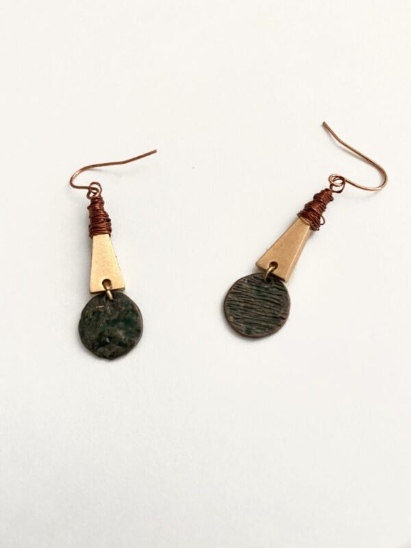 Made in Nevada Muranna Rustic Triangle Earrings