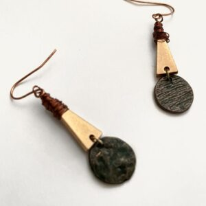 Made in Nevada Muranna Rustic Triangle Earrings