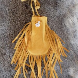 Made in Nevada Deerskin Pouch with Fringe