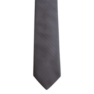 Black and grey stripe necktie