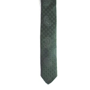 Made in Nevada Black necktie with black paisley