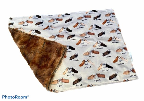 Made in Nevada Baby Blanket Minky – Black and Brown Lives Matter
