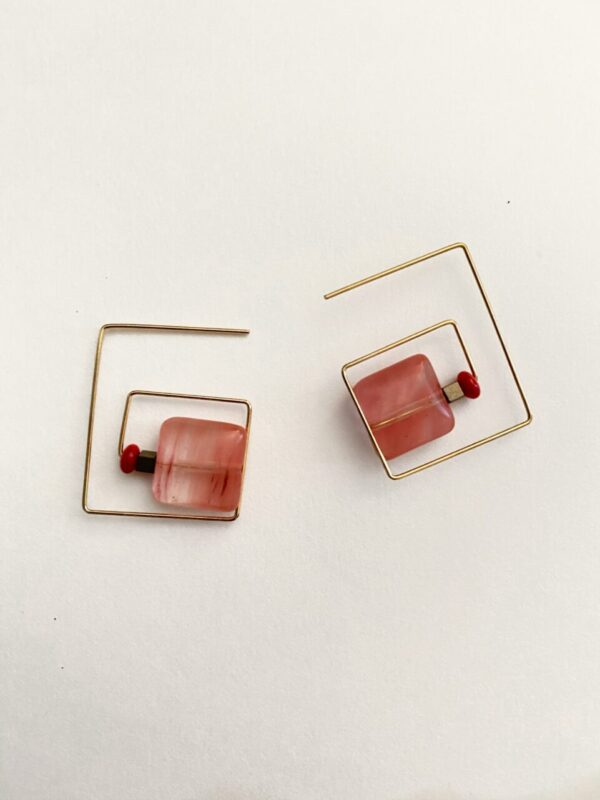 Made in Nevada Rielle Square Stone Earrings