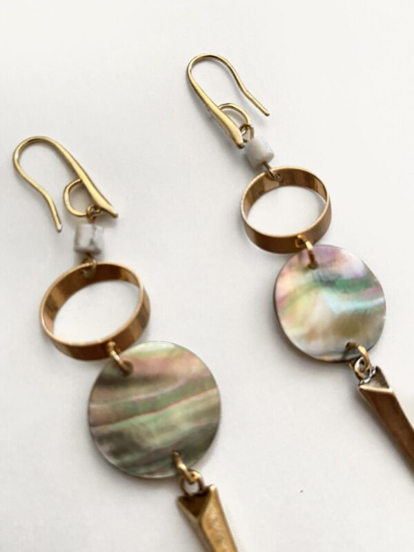Made in Nevada Nia Abalone Dangle Drop Earrings