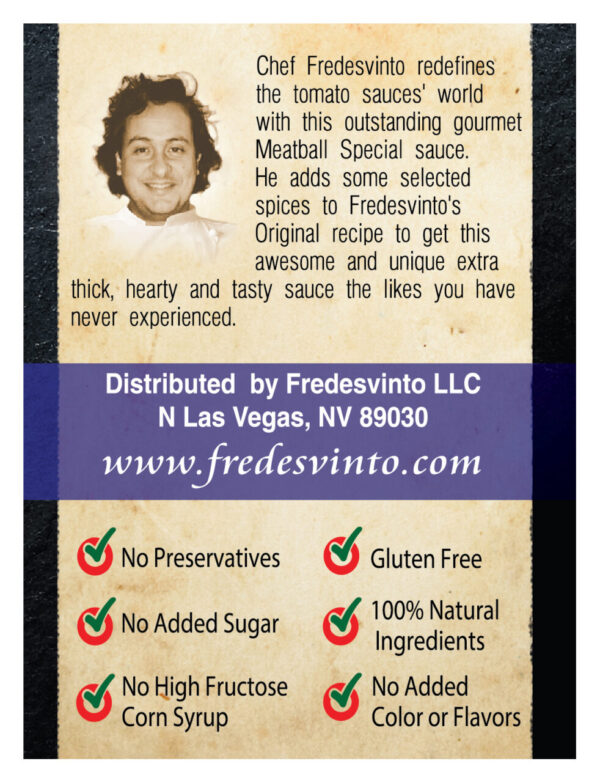 Made in Nevada Fredesvinto Meatball Special Sauce