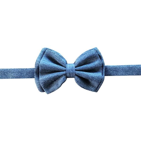 Grey wool bowtie