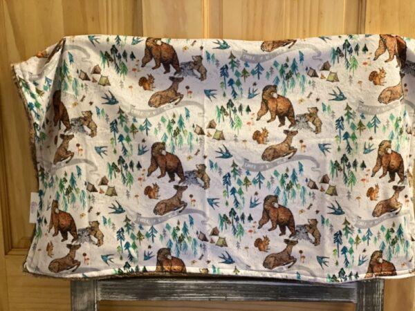 Made in Nevada Wild Child Baby Blanket in Minky