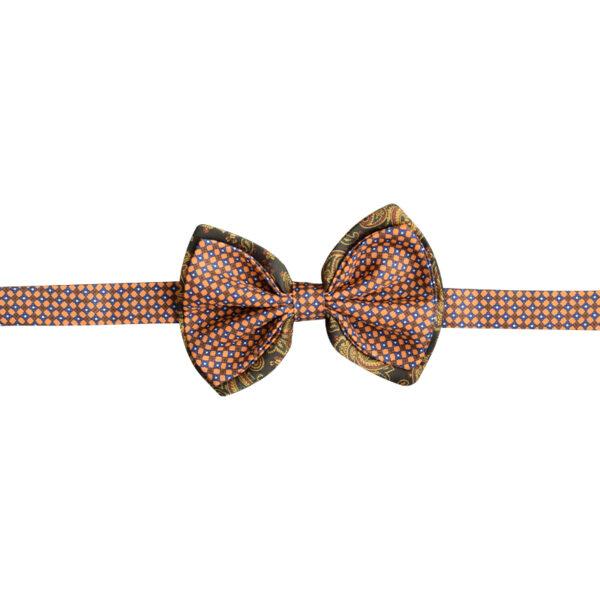 Made in Nevada Light orange and brown design bowtie