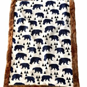 Made in Nevada Blue Bears Car Seat Blanket
