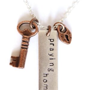 Heart Lock and Key Necklace on Shop Made in Nevada
