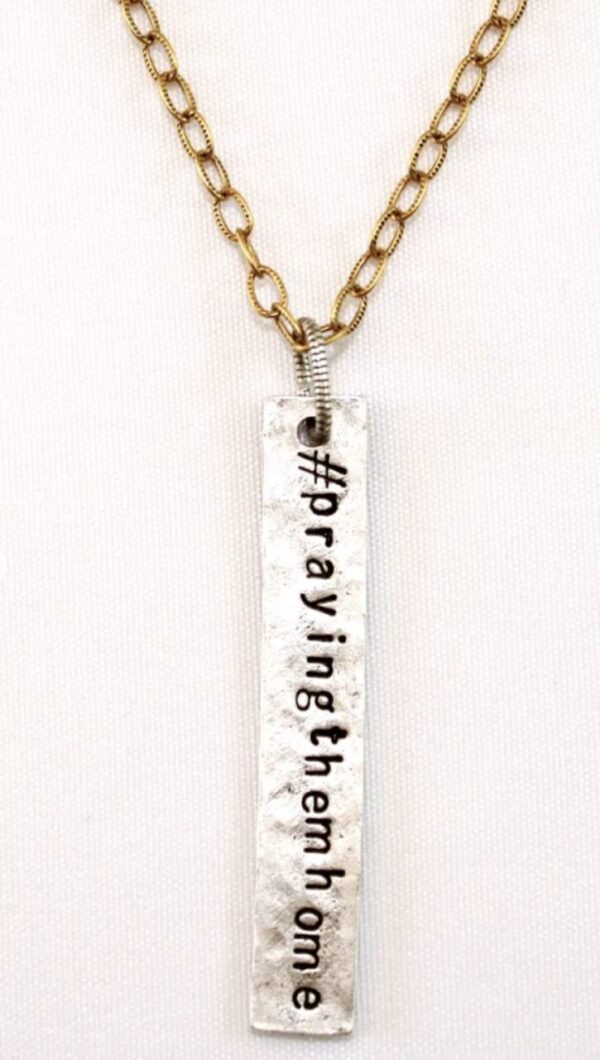Made in Nevada #PTH Long Bar Necklace