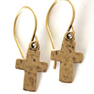 Made in Nevada Small Cross Earrings