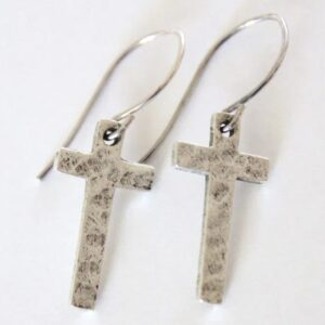 Made in Nevada Narrow Cross Earrings