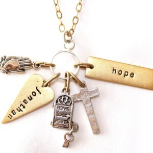 Cross Charm Necklace on Shop Made in Nevada