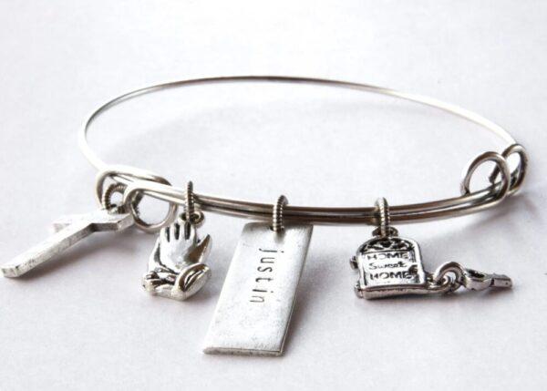 Made in Nevada Adjustable Charm Bangle Bracelet