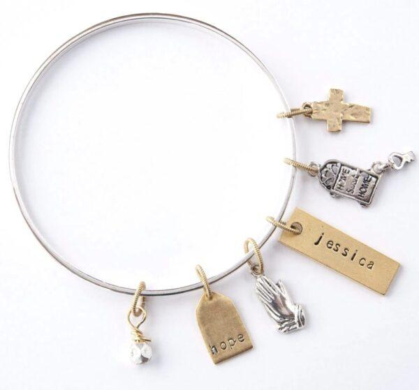 PTH Flat Bangle Bracelet on Shop Made in Nevada