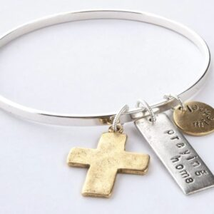 Made in Nevada Large Cross Flat Bangle Bracelet