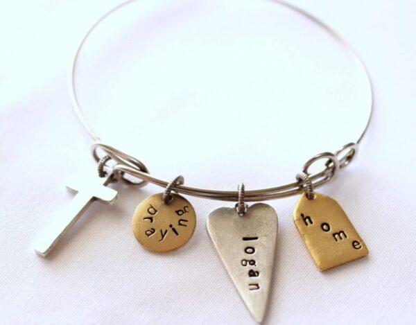 Made in Nevada Adjustable PTH Bangle Bracelet