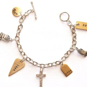 Faith Charm Bracelet on Shop Made in Nevada