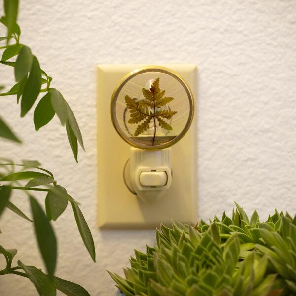 Made in Nevada Pressed Leaf Night Light