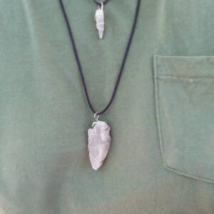 Made in Nevada Large Raw Selenite Pendant