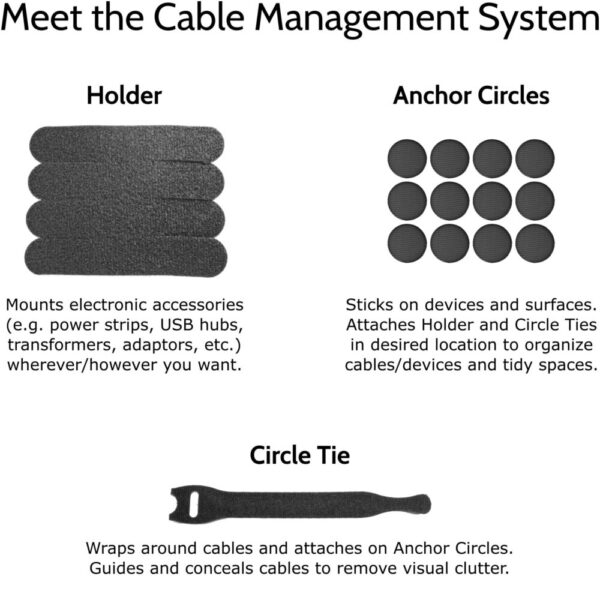 Made in Nevada Cable Management System – Universal Cable and Electronic Accessory Organizer