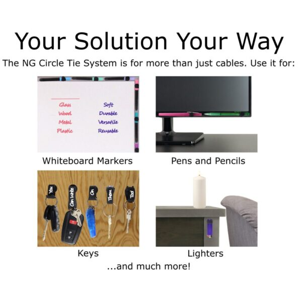 Made in Nevada Circle Tie System – Cable and Item Organizer