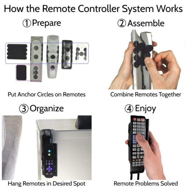 Made in Nevada Remote Controller System – Universal Remote Control Organizer