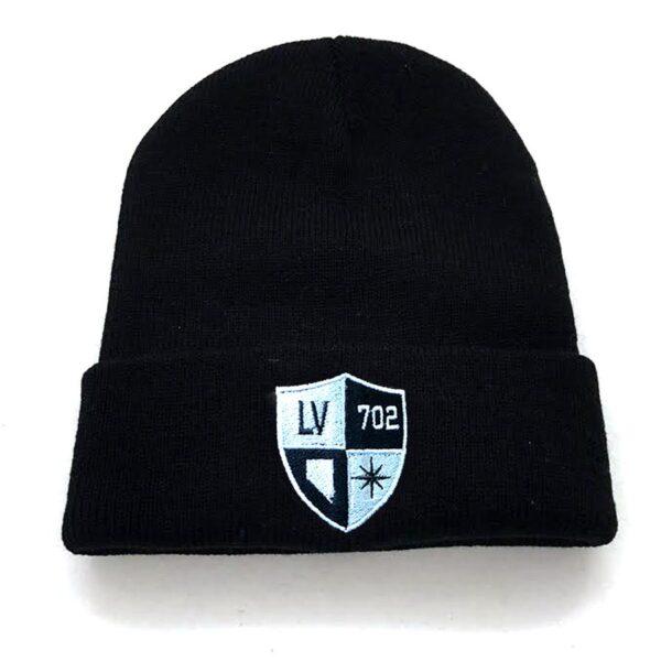 Made in Nevada Vegas Silver & Black Shield Hat